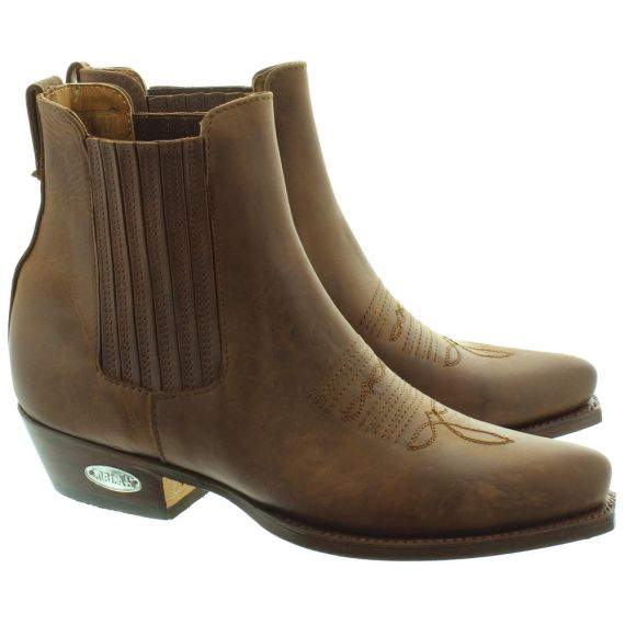 LOBLAN 298 Western Ankle Boots in Brown