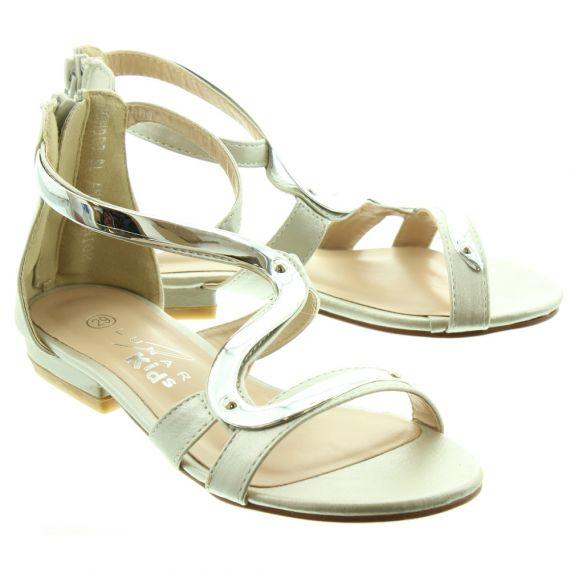 LUNAR Kids Andie JLC003 Sandals In Silver