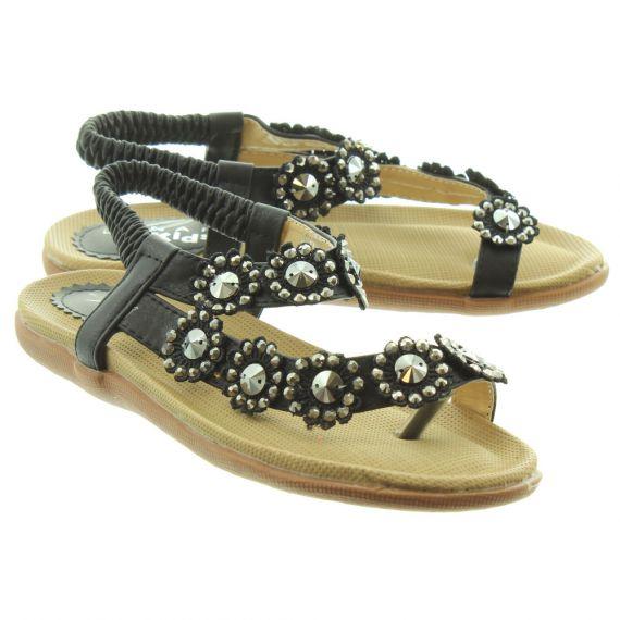LUNAR Kids Charlotte JLH001 Sandals In Black