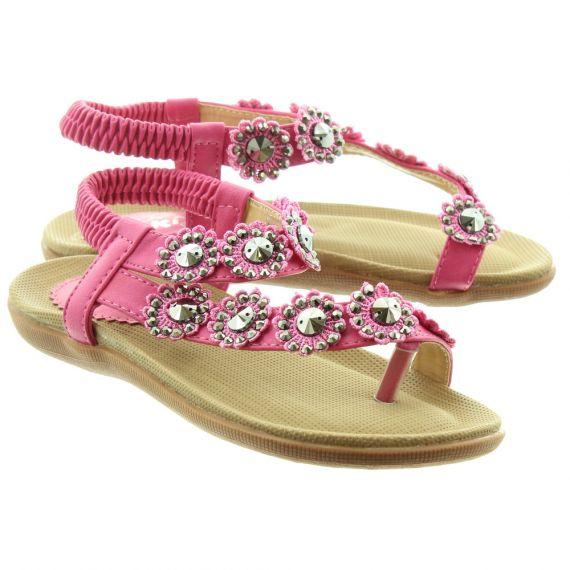 LUNAR Kids Charlotte JLH001 Sandals In Fuschia