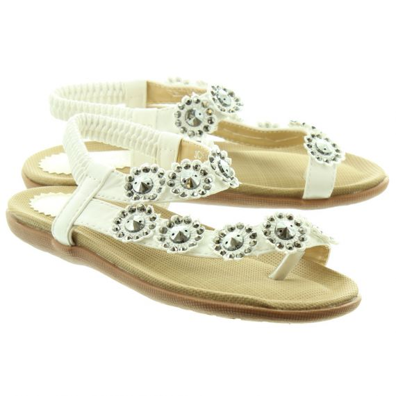 LUNAR Kids Charlotte JLH001 Sandals In White