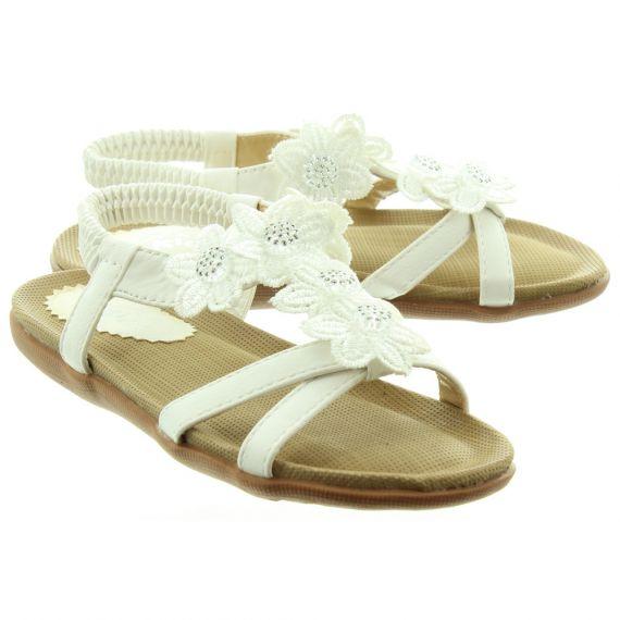 LUNAR Kids Fiji JCH002 Sandals In White