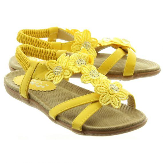 LUNAR Kids Fiji JCH002 Sandals In Yellow