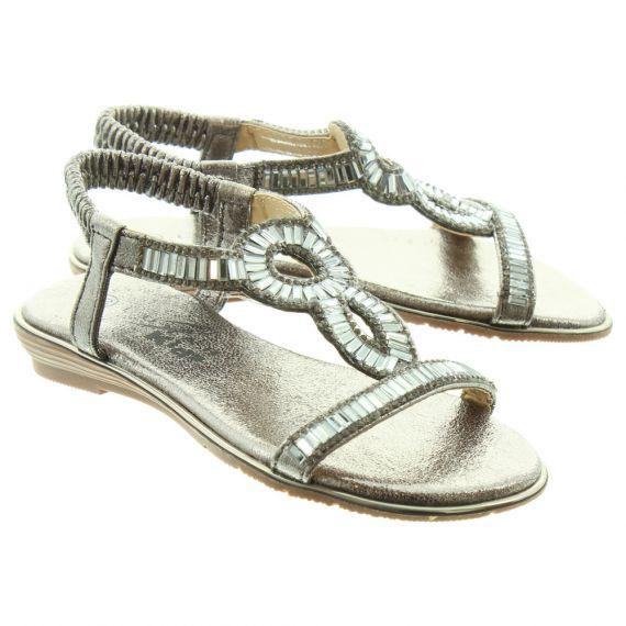 LUNAR Kids Samantha JCH004 Sandals In Pewter