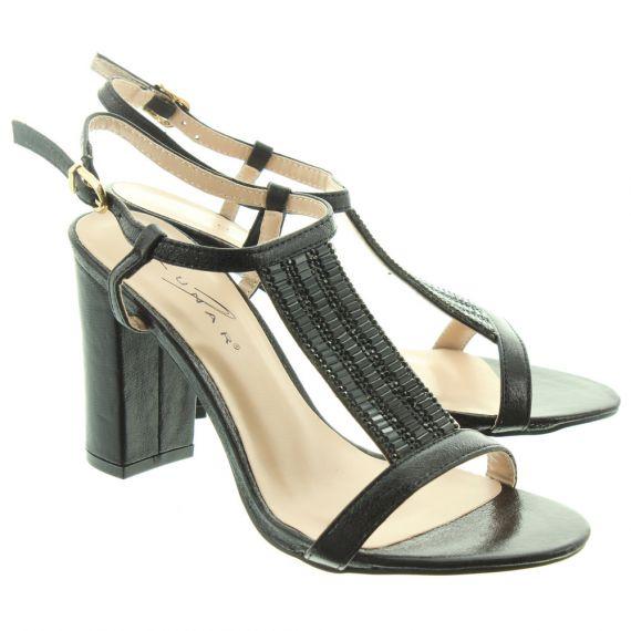LUNAR Ladies Aruba Heel Sandals In Black
