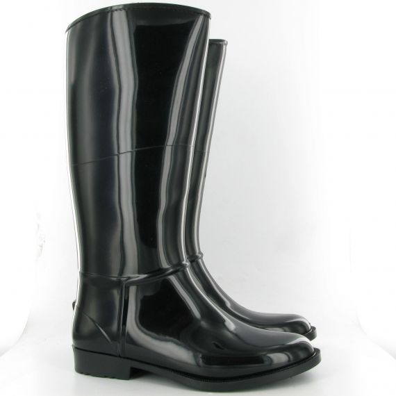 LUNAR Moon Fur Lined Welly in Black