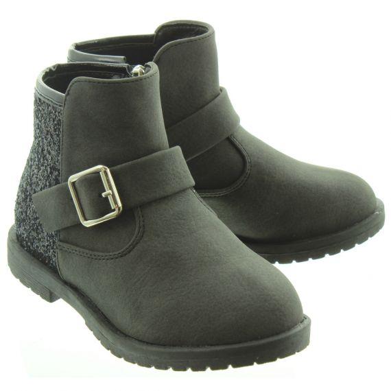 LUNAR Kids Victoria Glitter Boots In Black