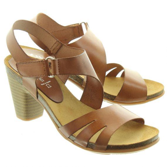 MARILA Ladies 11821 Heel Sandals In Tan