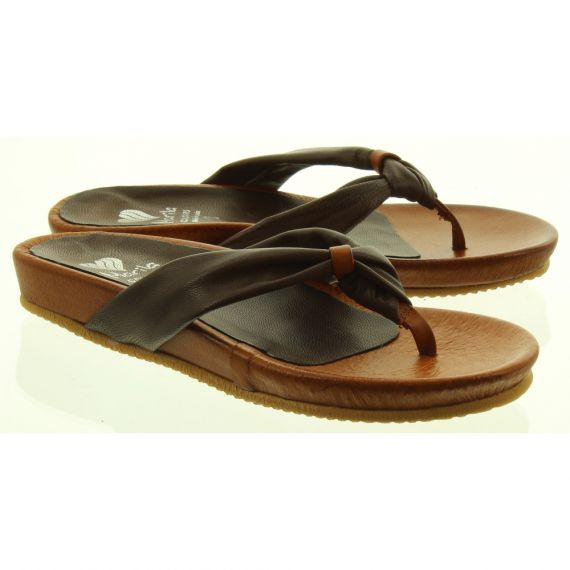 MARILA Ladies 201 Toe Post Sandals In Tan