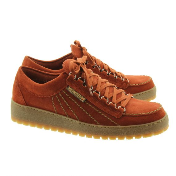 MEPHISTO Mens Rainbow Lace Shoes In Rustic Tan