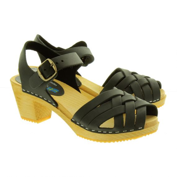 MOHEDA Womens Betty Clog Sandals In Black
