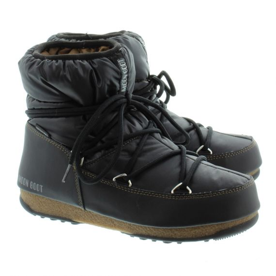 Ladies W.E Low Nylon Waterproof Boots In Black