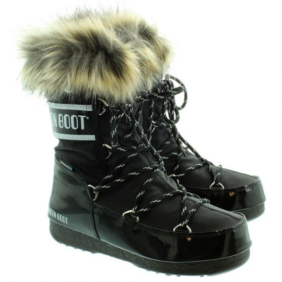 Monaco Low Waterproof Moon Boots in Black