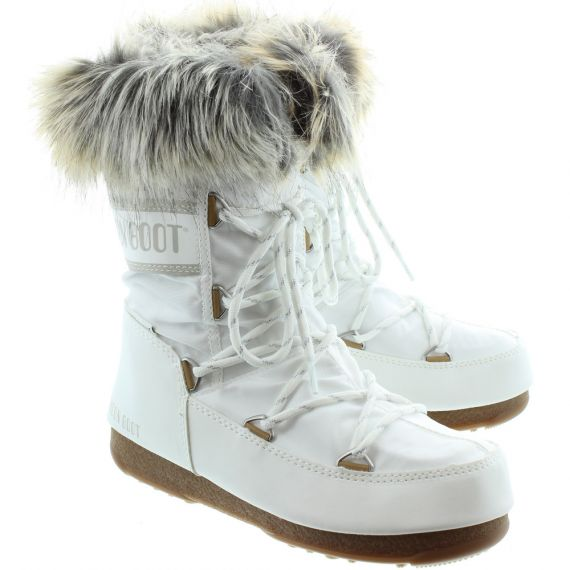 Monaco Low Waterproof Moon Boots In White