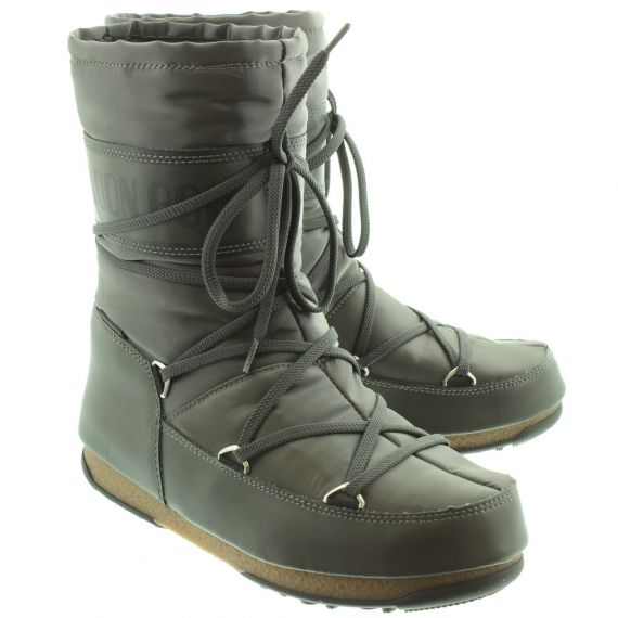 MOONBOOT Soft Shade Mid Waterproof Boots In Grey