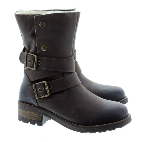 OAK AND HYDE Ladies Bridge Demi Boots In Brown