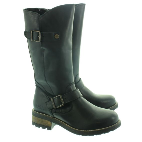 OAK AND HYDE Ladies Crest Leather Calf Boots In
