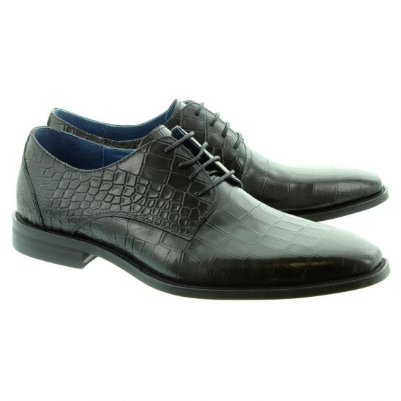 PAOLO VANDINI Mens Teilo Croc Lace Shoes In Black