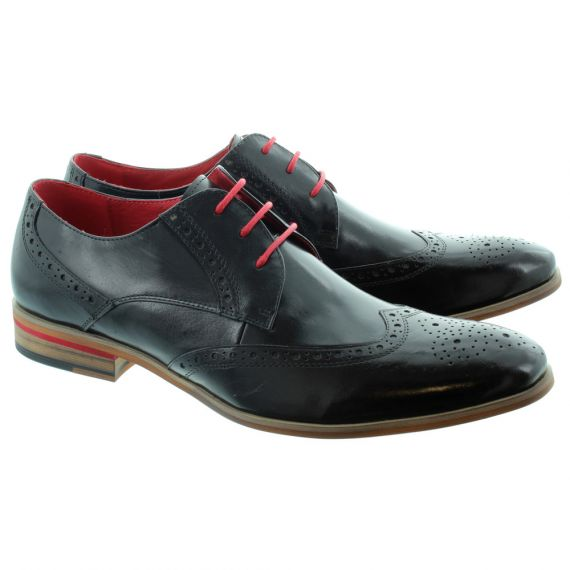PAOLO VANDINI Orlando Brogue Lace Shoes in Black