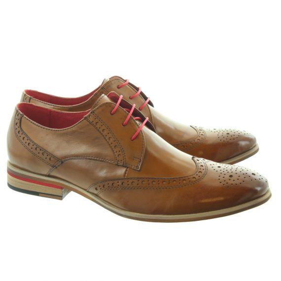 PAOLO VANDINI Orlando Brogue Lace Shoes in Tan