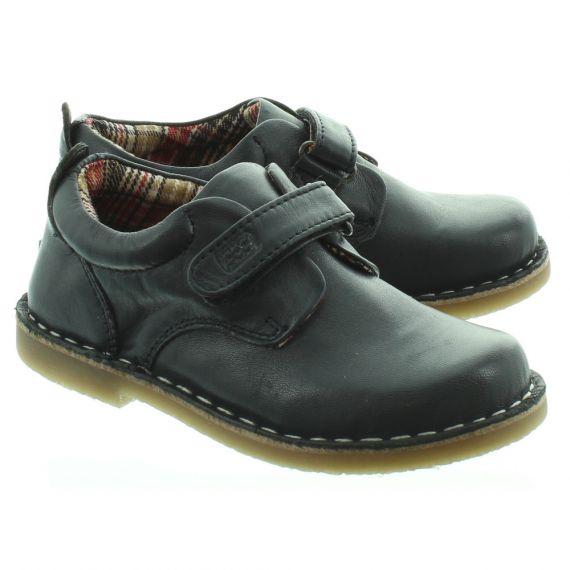 POD Kids Kirk Velcro Shoes In Navy.