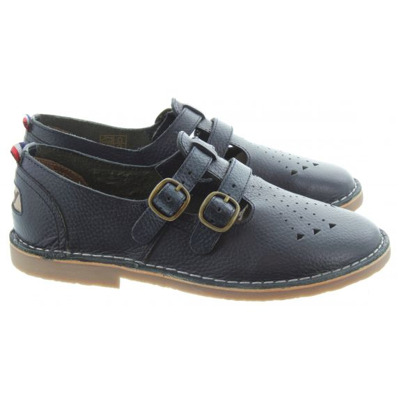 POD Ladies Marley T-Bar Shoes In Navy