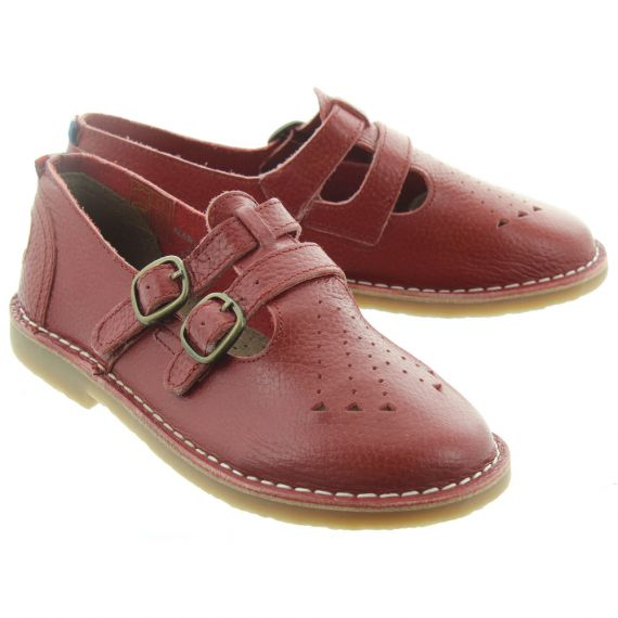 POD Marley Kids Bar Shoes In Red