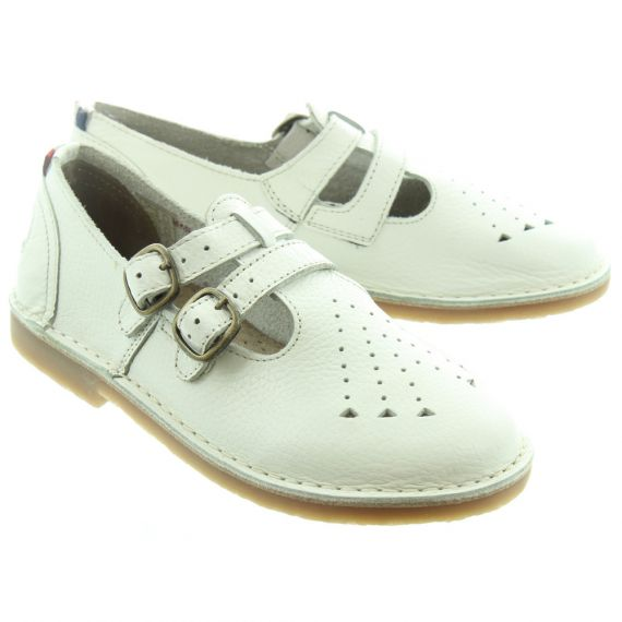 POD Marley Kids Bar Shoes In White