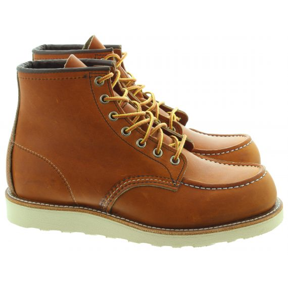 RED WING Mens 875 Classic Moccasin Toe Boots In Tan