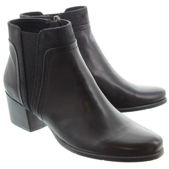 REGARDE LE CIEL Ladies Isabel 50 Heel Ankle Boots In Black