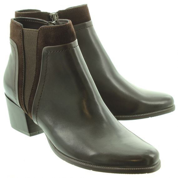 REGARDE LE CIEL Ladies Isabel 50 Heel Ankle Boots In Taupe
