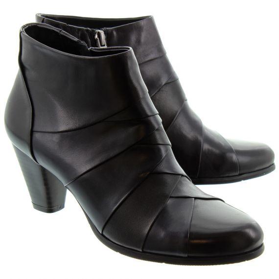 REGARDE LE CIEL Ladies Marisi 22 Ankle Boots In Black Multi