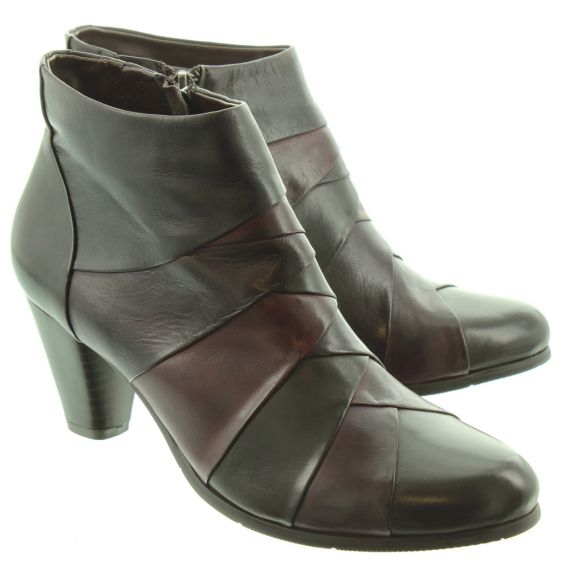REGARDE LE CIEL Ladies Marisi 22 Ankle Boots In Brown Multi