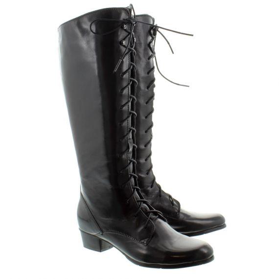 REGARDE LE CIEL Ladies Stefany Lace Knee Boots In Black