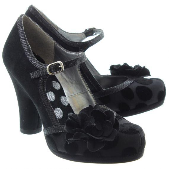 RUBY SHOO Ladies Hannah Bar Shoes In Black