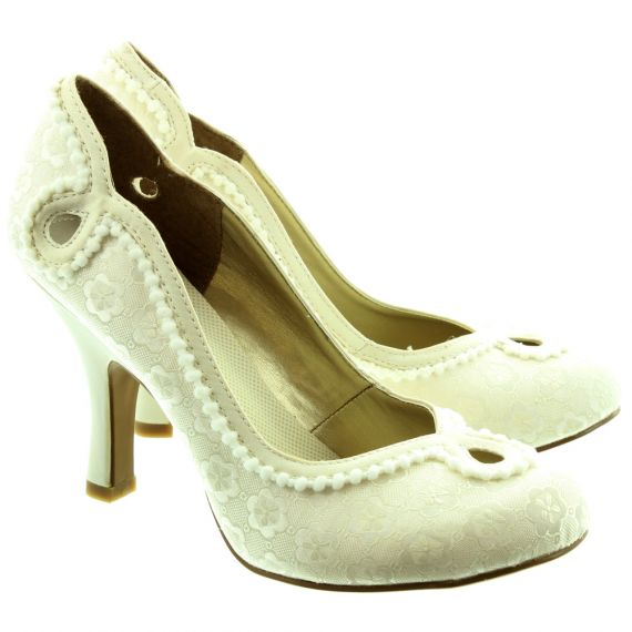 RUBY SHOO Miley Heeled Shoes in Cream