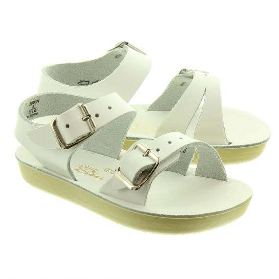 SALT WATER Kids Seawee Sandals In White