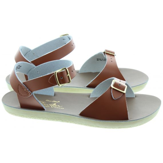 SALT WATER Kids Surfer Sandals In Tan