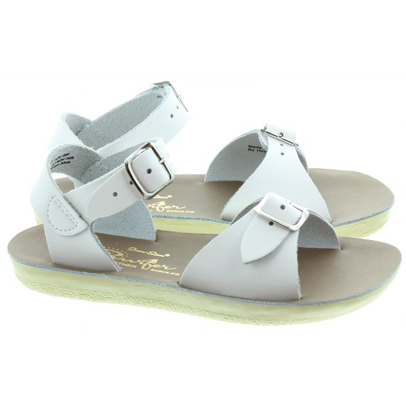 SALT WATER Kids Surfer Sandals In White