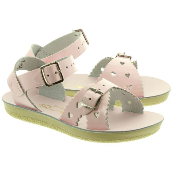 SALT WATER Kids Sweetheart Sandals In Pink