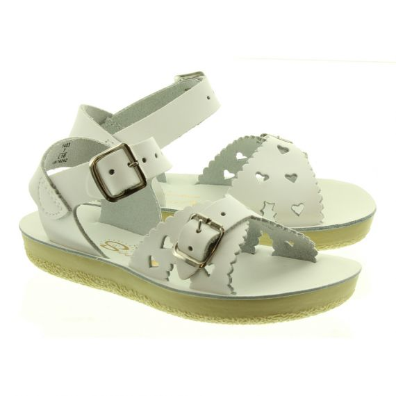 SALT WATER Kids Sweetheart Sandals In White