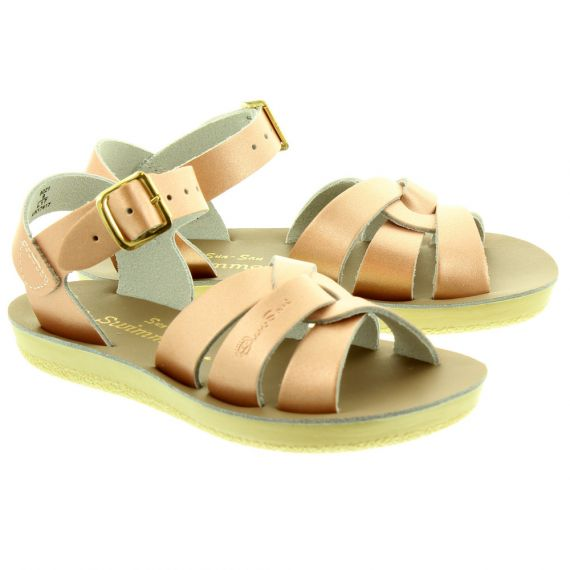SALT WATER Kids Swimmer Sandals In Rose Gold