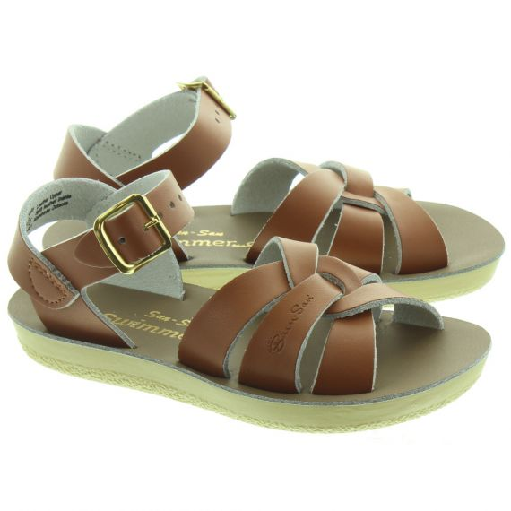 SALT WATER Kids Swimmer Sandals In Tan
