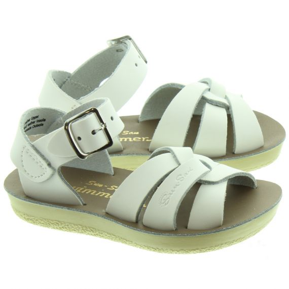SALT WATER Kids Swimmer Sandals In White