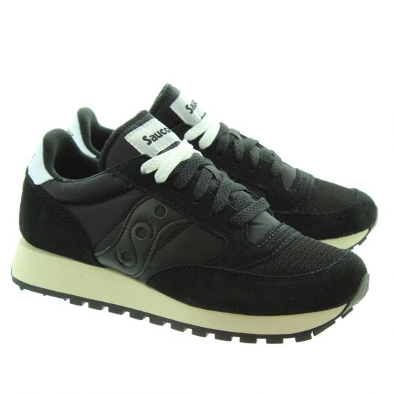 SAUCONY Ladies Jazz Original Vintage Trainers In All Black
