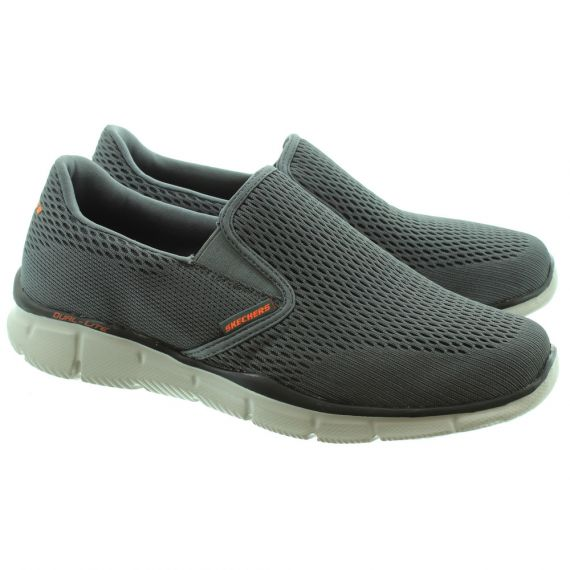 SKECHERS 51509 Equalizer Slip On Trainers in Charcoal/Orange