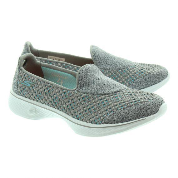 SKECHERS Ladies 14145 Slip On Shoes In Grey