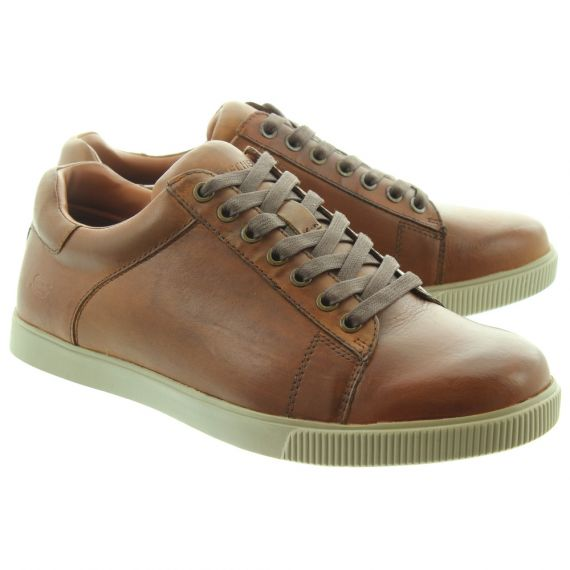 SKECHERS Mens 65323 Lace Shoes In Tan