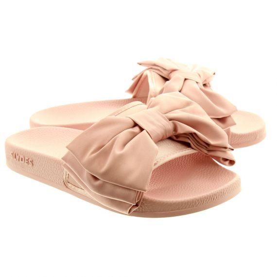 SLYDES Ladies Peep Bow Slydes In Pink