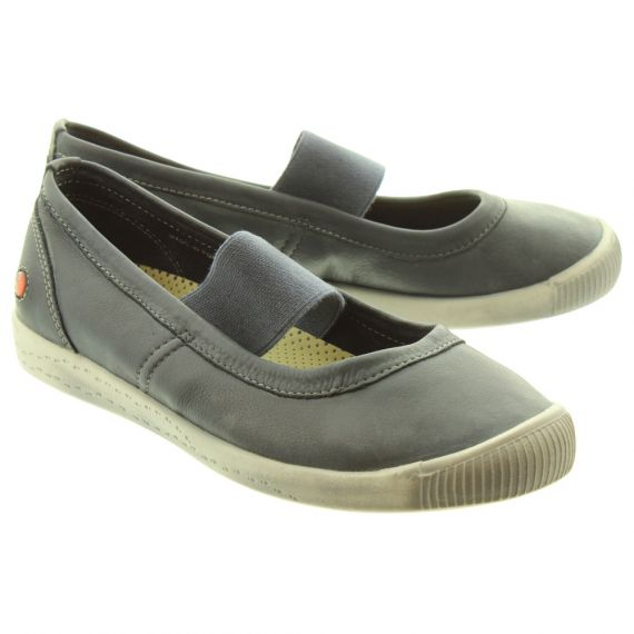 SOFTINOS Ladies ION446 Soft Bar Shoes In Navy